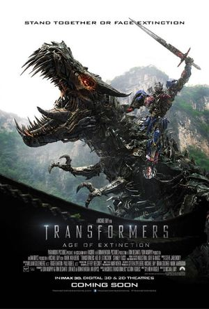 New Transformers: Age of Extinction Poster