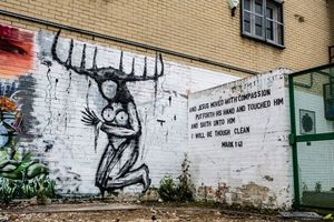 Disturbing graffiti based on the HBO show 'True Detective' found in London