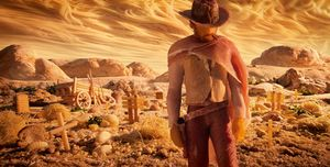 Spaghetti Western: The Good, The Bad & The Ugly and Clint Eastwood re-created in food