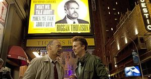 Edward Norton and Michael Keaton in Birdman