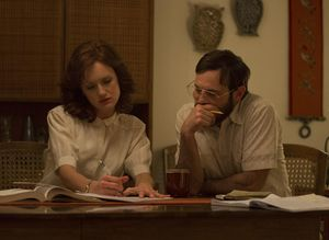 Scoot McNairy and Kerry Bishé in Halt and Catch Fire