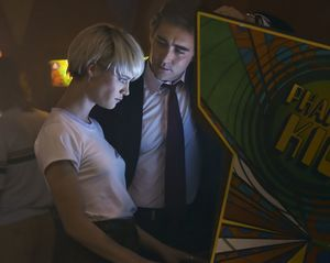Lee Pace and Mackenzie Davis playing games in Halt and Catch