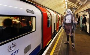 White Walker riding the London underground