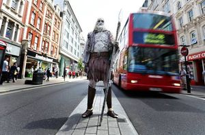 A giant 7ft White Walker from HBO's Game of Thrones was sp