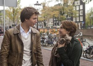Shailene Woodley and Ansel Elgort in Amsterdam, The Fault in