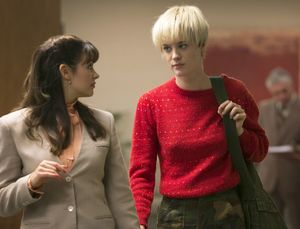 Cameron Howe gets some critique on her sweater in Halt and C