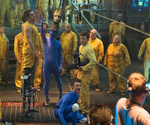 Behind the scenes: blue suits in Guardians Of The Galaxy