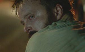 Aaron Paul looking over his shoulder in Hellion