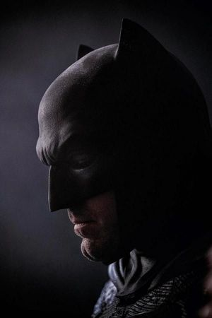 Close-up of Ben Affleck as Batman