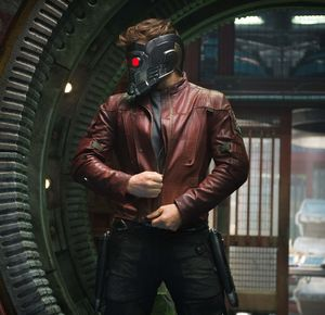 Peter Quill puts on mask