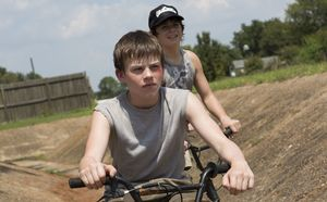 Josh Wiggins rides his bike