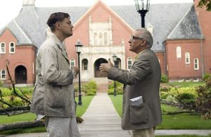 DiCaprio and Scorsese filming Shutter Island