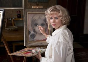 Amy Adams painting Big Eyes
