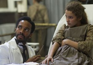 Dr. Algernon Edwards getting racist comments in The Knick