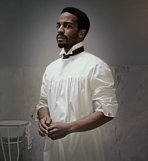 André Holland as Dr. Algernon Edwards in The Knick