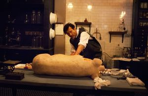 Dr. John W. Thackery operates on a pig in The Knick