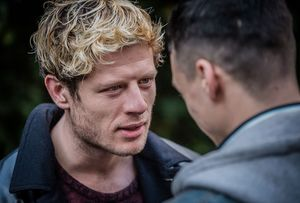 Adam Long and James Norton as the kidnappers in Happy Valley