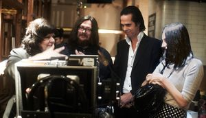 Directors Iain Forsyth and Jane Pollard and Nick Cave workin