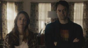 Kristen Wiig and Bill Hader smirk, The Skeleton Twins