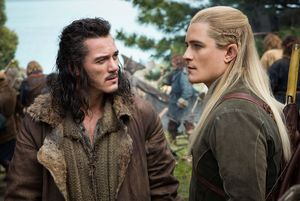 Luke Evans and Orlando Bloom, The Hobbit: The Battle of the