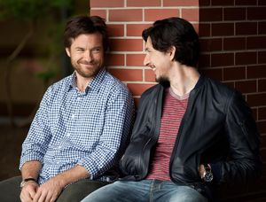 Jason Bateman and Adam Driver having a laugh