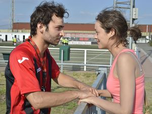 Soccer playing Timur Magomedgadzhiev and Marion Cotillard ha