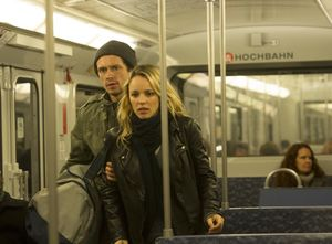 Grigoriy Dobrygin and Rachel McAdams on the metro, A Most Wa