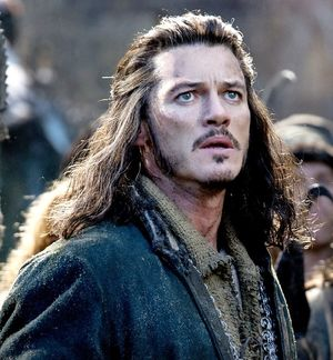Close-up of Luke Evans as Bard the Bowman