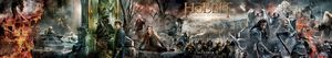 Ultra-wide The Hobbit: The Battle of the Five Armies banner