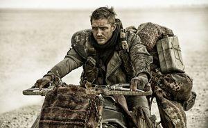 Tom Hardy as Max on his bike