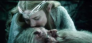 Tariel kisses forehead - The Battle of the Five Armies