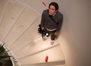 Jake Gyllenhaal on the bloody stairs
