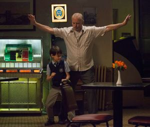 Bill Murray and Jaeden Lieberher dance in St. Vincent