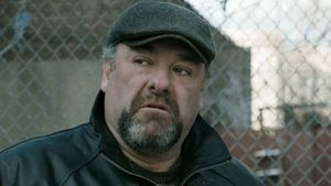 James Gandolfini as cousin Marv in The Drop