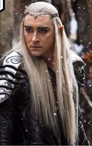 Lee Pace, long hair, Thranduil - The Battle of the Five Armi