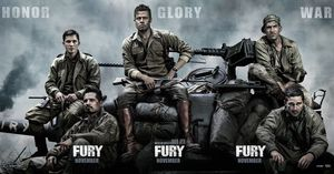 Honer, Glory, War - Fury banner poster