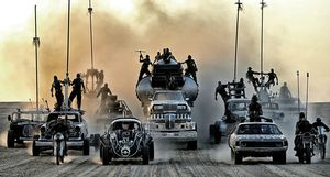 Bikers, cars and trucks coming - Mad Max: Fury Road