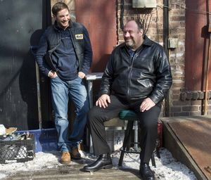 Tom Hardy and James Gandolfini hang out in The Drop