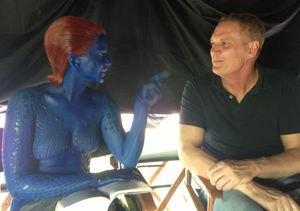 Jennifer Lawrence just sitting around on the X-Men: Days of