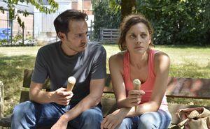 Fabrizio Rongione and Marion Cotillard having an ice-cream i