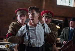 Benedict Cumberbatch under arrest in The Imitation Game