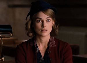 Keira Knightley amazed as Joan Clarke in The Imitation Game