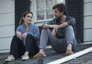 Tina Fey and Jason Bateman on the roof in This Is Where I Le