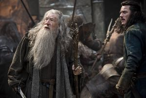Ian McKellen and Luke Evans fight in The Battle of the Five