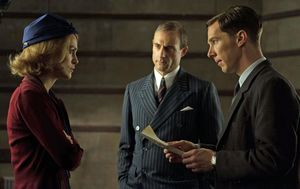 Mark Strong, Keira Knightley and Benedict Cumberbatch in The