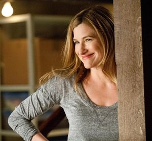 Kathryn Hahn doing a huge smile