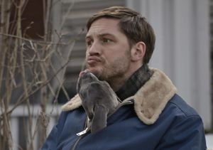 Tom Hardy and dog kiss in The Drop