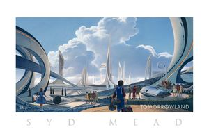 Tomorrowland concept art by Syd Mead