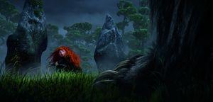 Merida and a huge foor in the dark - Brave (2012)