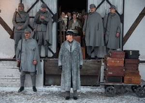 Edward Norton and his men in The Grand Budapest Hotel